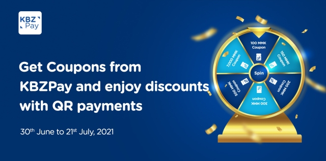 Get coupons from KBZPay and enjoy discounts with QR payments