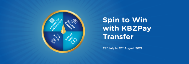 Spin to Win with KBZPay Tranfer